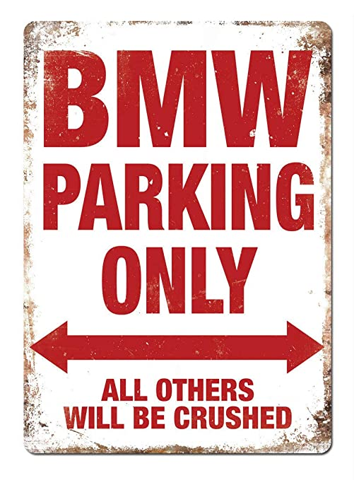 Shunry BMW Parking Only Placa Cartel Vintage Estaño Signo ...