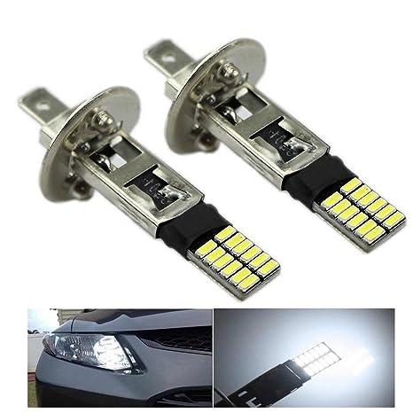 Super Bright White Driving DRL Lamp Car Fog Light H1 6500K 24-SMD 4014 LED Bulb