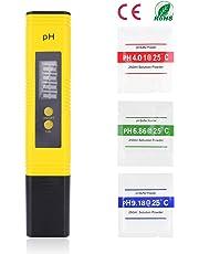 Ulikey PH Mètre Numérique, Testeur PH Numérique Portable Lecteur Résolution 0,01pH, Test avec 0-14 pH Plage de Mesure avec ATC pour l'eau Potable, Aquariums, Hydroponie, Piscines