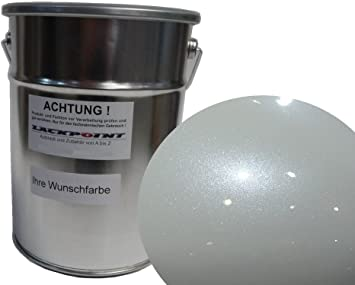 Lackpoint 1 Liter Spritzfertigen Wasserbasislack Perlweiß Metallic Weiß Autolack Auto