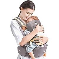 Portabebés Asiento de Cadera, 4 en 1 Portacontenedor Frontal Ergonómico Desmontable Cómodo para 0-3 Años Bebé