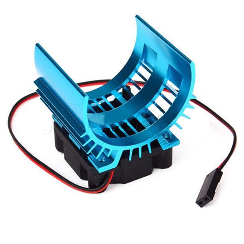 JVSISM Meta Dissipatore di Calore con Ventola di Raffreddamento 5V per Motore 1//10 RC 540 550 3650 Size Motor