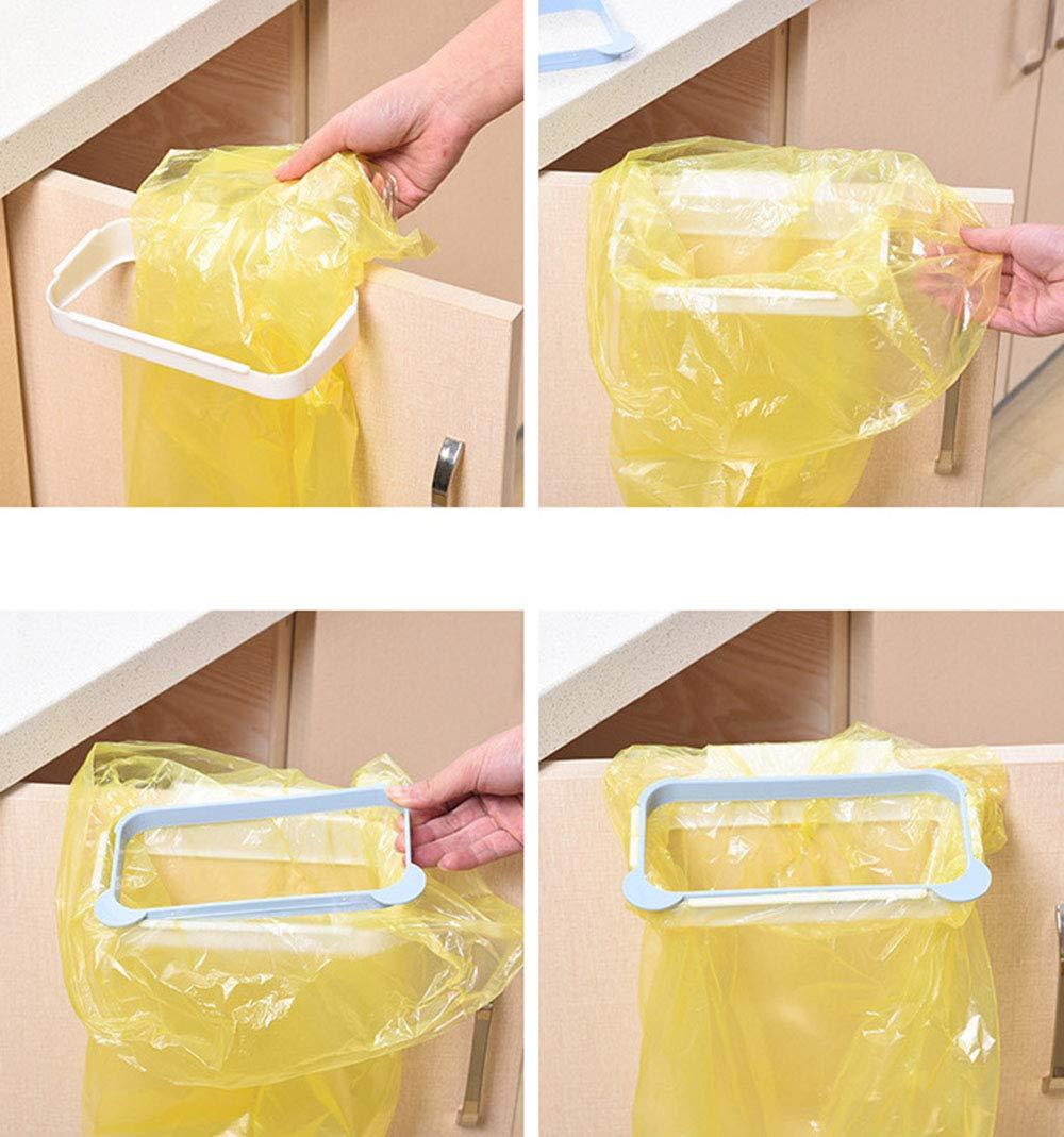 Verde JUNSHUO Porta Sacchetti Spazzatura Appeso Supporto Portasacco da Appendere Garbage Holder per Armadio Cucina Trash Spazzatura Rack di Stoccaggio