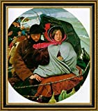 """The Last of England by Ford Madox Brown - 15"""" x 19"""" Framed Canvas Art Print - Ready to Hang"""