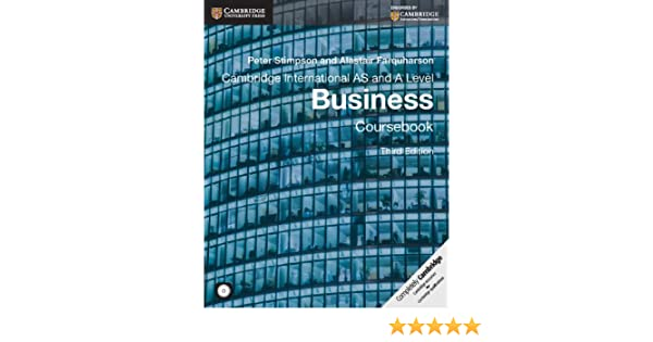 Cambridge international as and a level business coursebook with cd cambridge international as and a level business coursebook with cd rom cambridge international examinations peter stimpson alistair farquharson fandeluxe Images