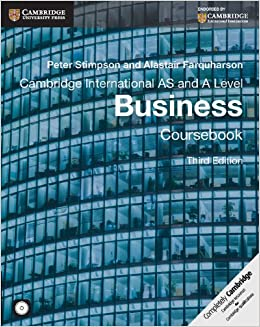 Cambridge international as and a level business coursebook with cd cambridge international as and a level business coursebook with cd rom cambridge international examinations peter stimpson alistair farquharson fandeluxe