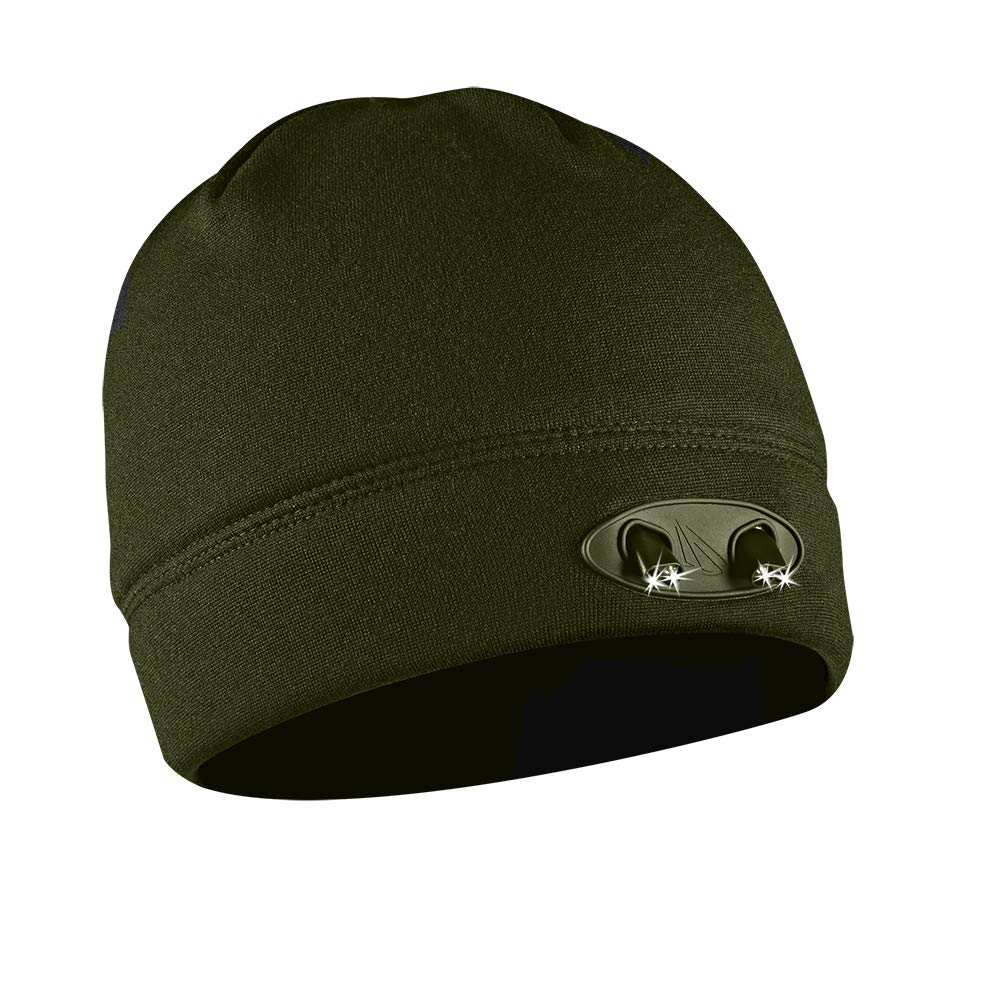 746d138f99a01 POWERCAP LED Beanie Cap 35 55 Ultra-Bright Hands Free LED Lighted Battery  Powered Headlamp Hat - Olive Fleece (CUBWB-5505) - - Amazon.com