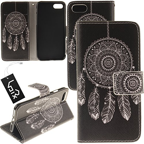 Scoop Pet Case (Urvoix For 5.5'' iPhone 7 Plus/iPhone 8 Plus, Dream Catcher Black PU Leather Flip Wallet Case Cover - w/Picture on Card Holder, Magnetic Closure, Stand Feature for iPhone 7 Plus/iPhone 8 Plus)