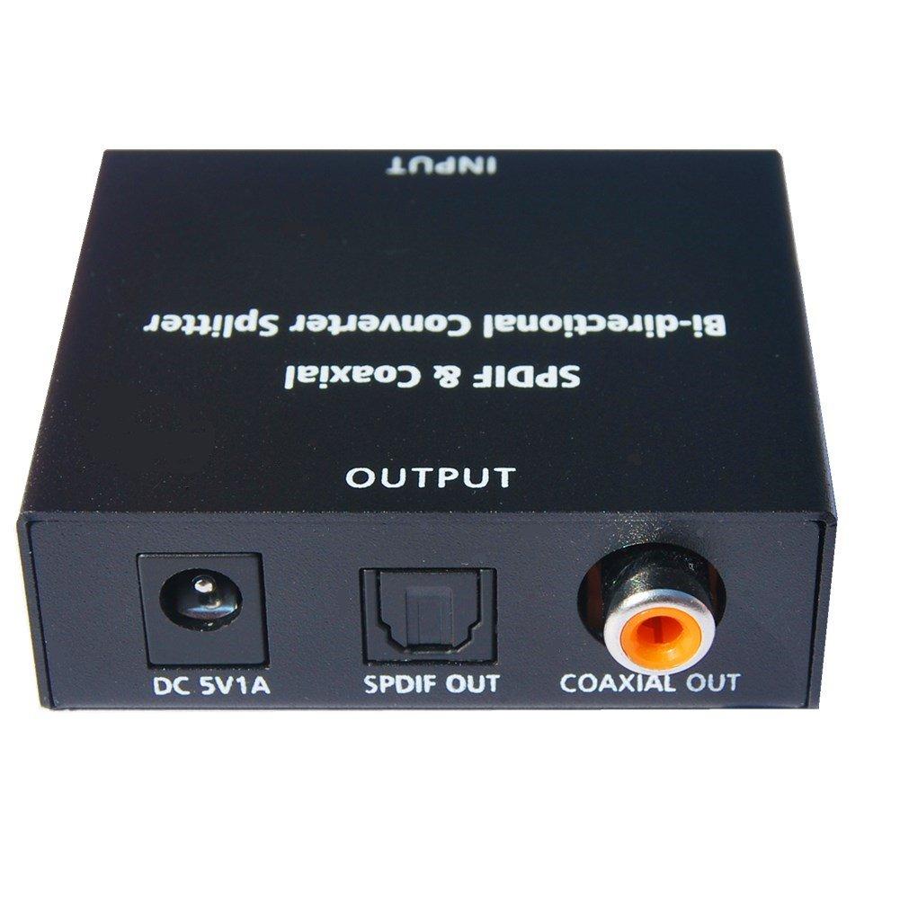 huierav SPDIF Toslink y SPDIF a Coaxial y coaxial a óptico & Coaxial SPDIF conversor de audio | bidireccional conversor de audio divisor | buque con ...