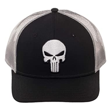Amazon.com  Marvel Punisher Trucker Hat Cap  Clothing 3ad6dbe796e