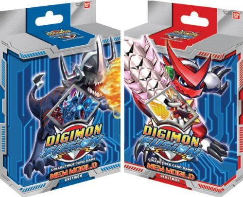 Digimon Fusion Collectible Card Game Set of Both Starter Decks [Greymon & Shoutmon]
