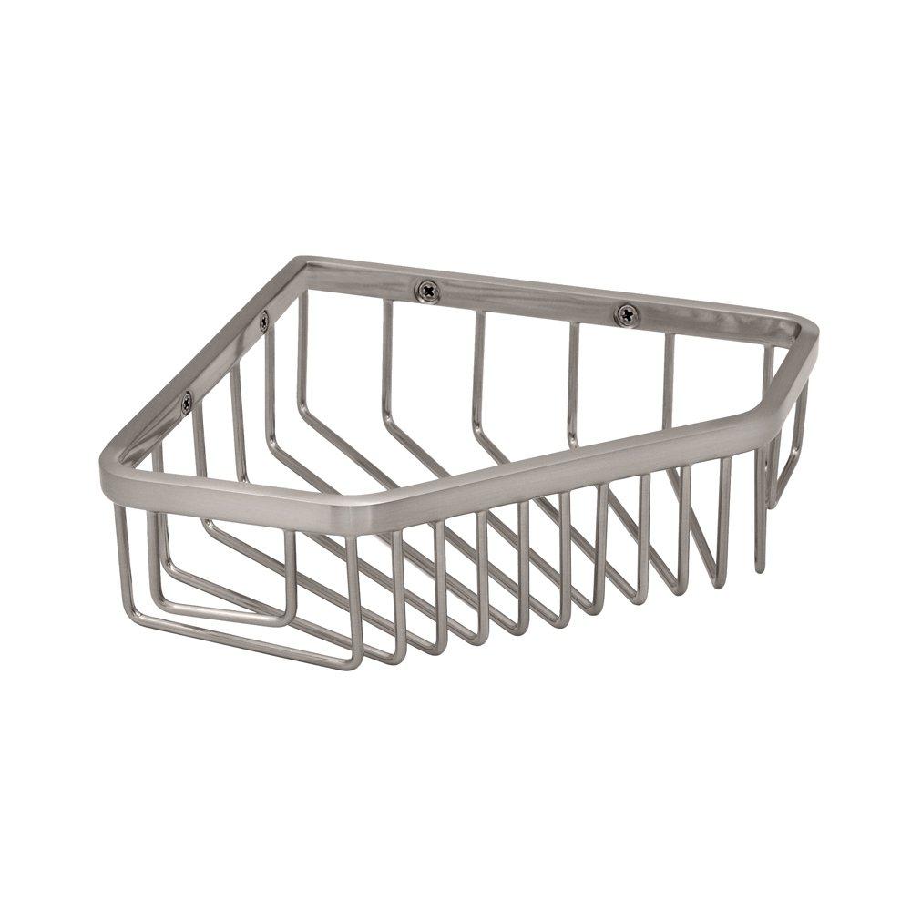Amazon.com: Gatco 1515 8-1/2-Inch Shower or Tub Corner Basket, Satin ...