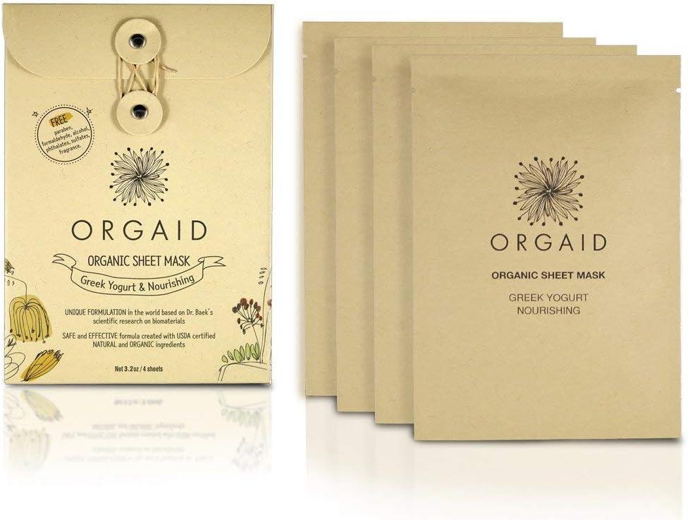 Orgaid - Mascarilla de yogurt orgánico y nutritiva orgánica para faciales - 4Conde