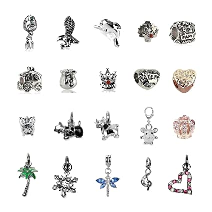 473075f76 Amazon.com: Charms for Pandora Bracelet and Snake Chain Necklace for ...