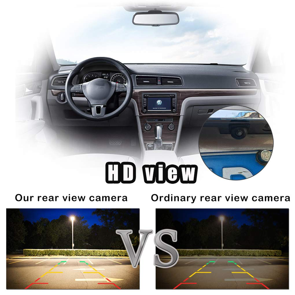 ELENXS Cam/éra Voiture 170 Auto Rearview Grand Angle HD /étanche Night Vision Camera Universal Backup Parking
