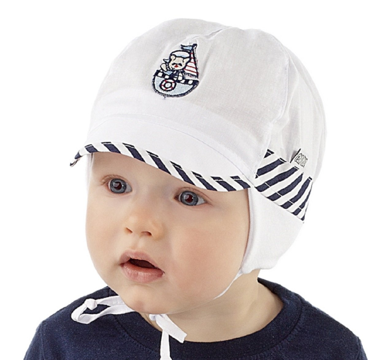 Boys Sun Hat Holiday Beach Summer Hat 0 2 3 6 9 12 months NEW Marine Collection Baby Boy (40cm 3-6 mths)