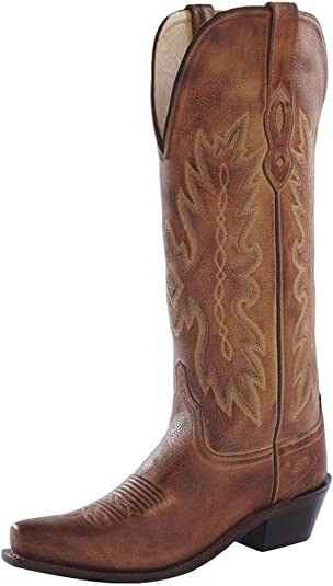 Old West Distressed Leather Cowgirl Boot Snip Toe TS1541