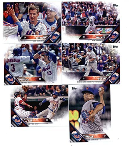 2016 Topps Series 1 & 2 W/Update New York Mets Master Team Set 36 Cards Michael Conforto Rookie Card