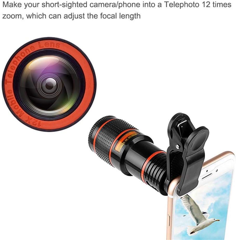 SIRIGOGO Cell Phone Lens Samsung Android Smartphone Phone Camera Lens Monocular Telescope HD Phone Camera Lens for iPhone 12X Zoom Telephoto Lens with Clip