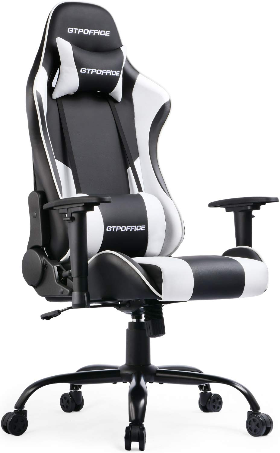 Admirable Gtpoffice Gaming Chair Reclining Office Computer Desk Chairs High Back For Adult Adjustable Swivel With Headrest And Lumbar Support Cushion White Ocoug Best Dining Table And Chair Ideas Images Ocougorg