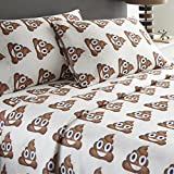 Spirit Linen Hotel 5th Ave Emoji-TW-Poop Twin Poop Emoji 3 Piece Sheet Set