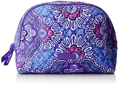 Vera Bradley Large Zip Cosmetic  Lilac Tapestry