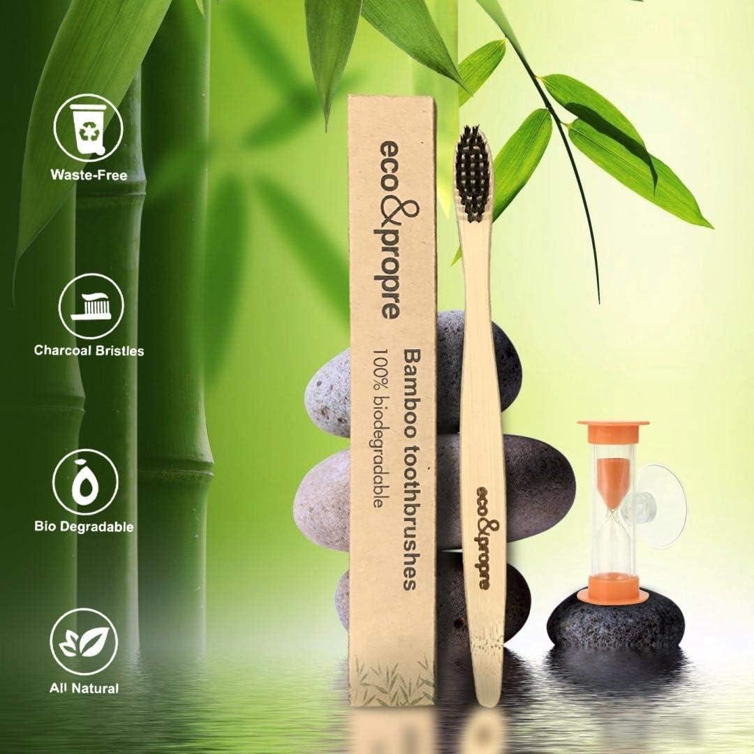 Cepillo de dientes natural de bambú (cerdas ultra suaves ...