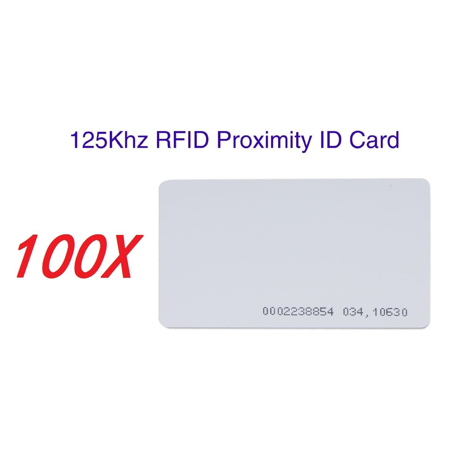 SainSmart Generic White Plastic Contactless 125kHz TK4100 EM4100 RFID Proximity ID Smart Entry Access Card (Pack of 100) by SainSmart (Image #2)