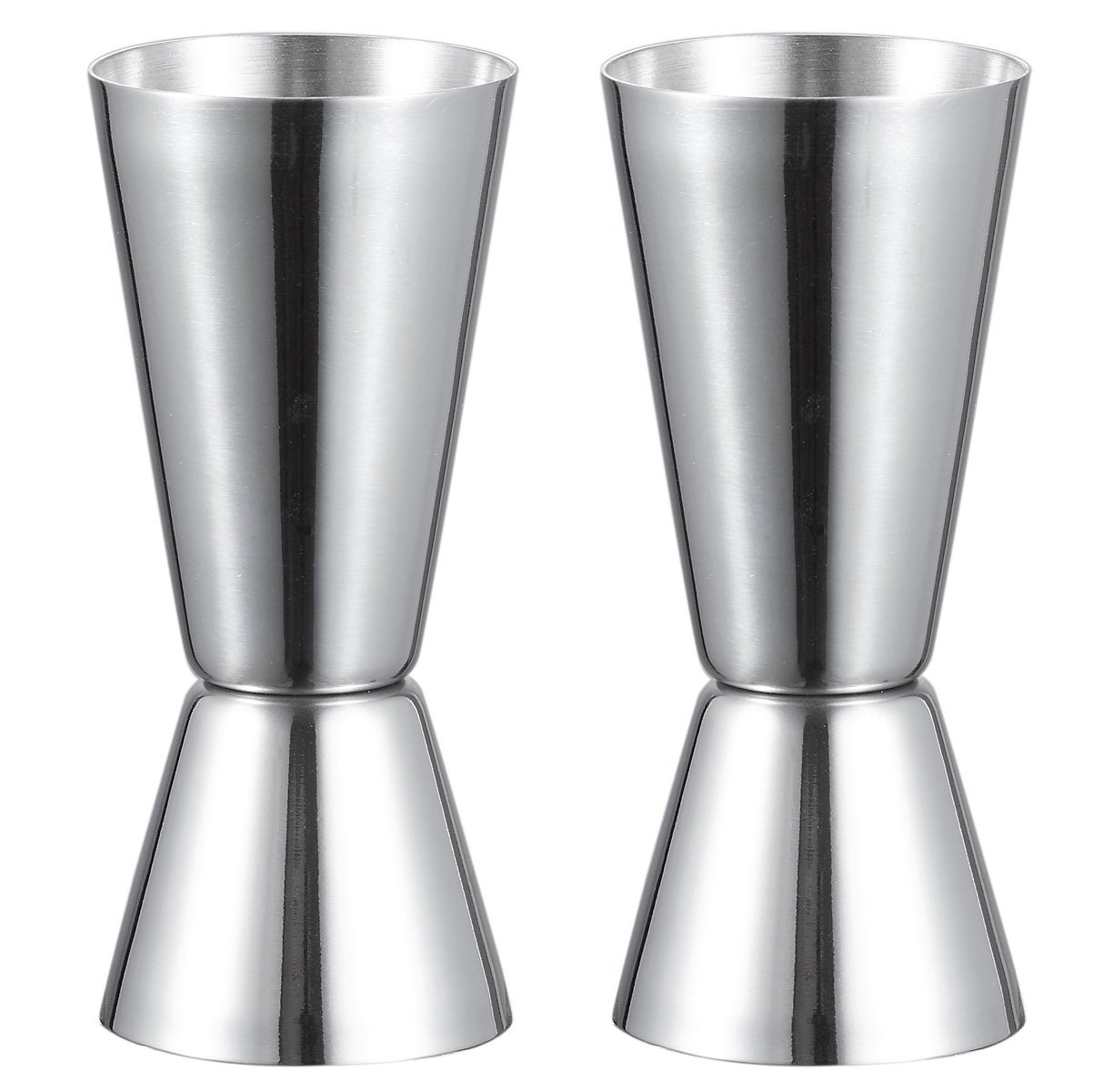 Visol Narrowed Josset Stainless Steel Double Jigger (2 Pack), Silver
