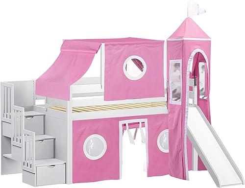 JACKPOT Princess Low Loft Stairway Bed
