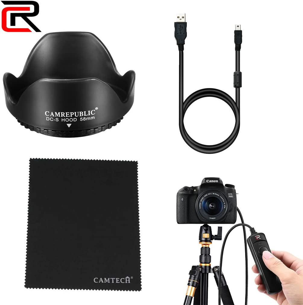 Camrepublic® para cámara réflex Digital Canon EOS 200d Kit de ...