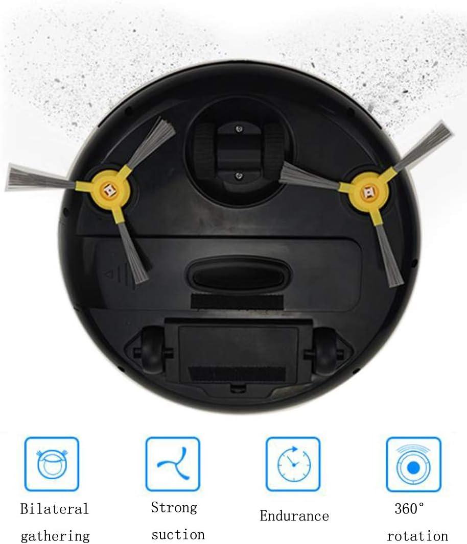 Robot de balayage intelligent Chargement Robot Aspirateur Robot Aspirateur Robuste Aspiration Tapis durs-black Black