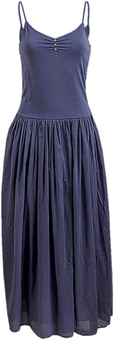 Ex Zara – Plain algodón Casual Fit & flare Puff falda camiseta Maxi vestido