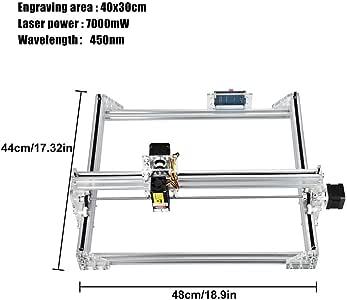 HUKOER 7000MW Máquina Láser Kits de Bricolaje CNC Impresora de Logotipo Grabadora Láser para Cuero, Plástico, Madera, Bambú, Cuerno: Amazon.es: Bricolaje y herramientas