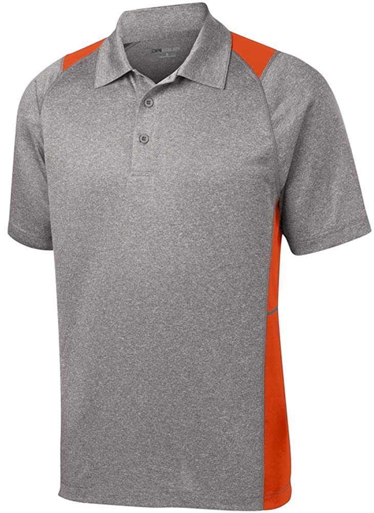 XS-4XL DRI-Equip Moisture Wicking 2-Color Athletic Polos in 13 Colors