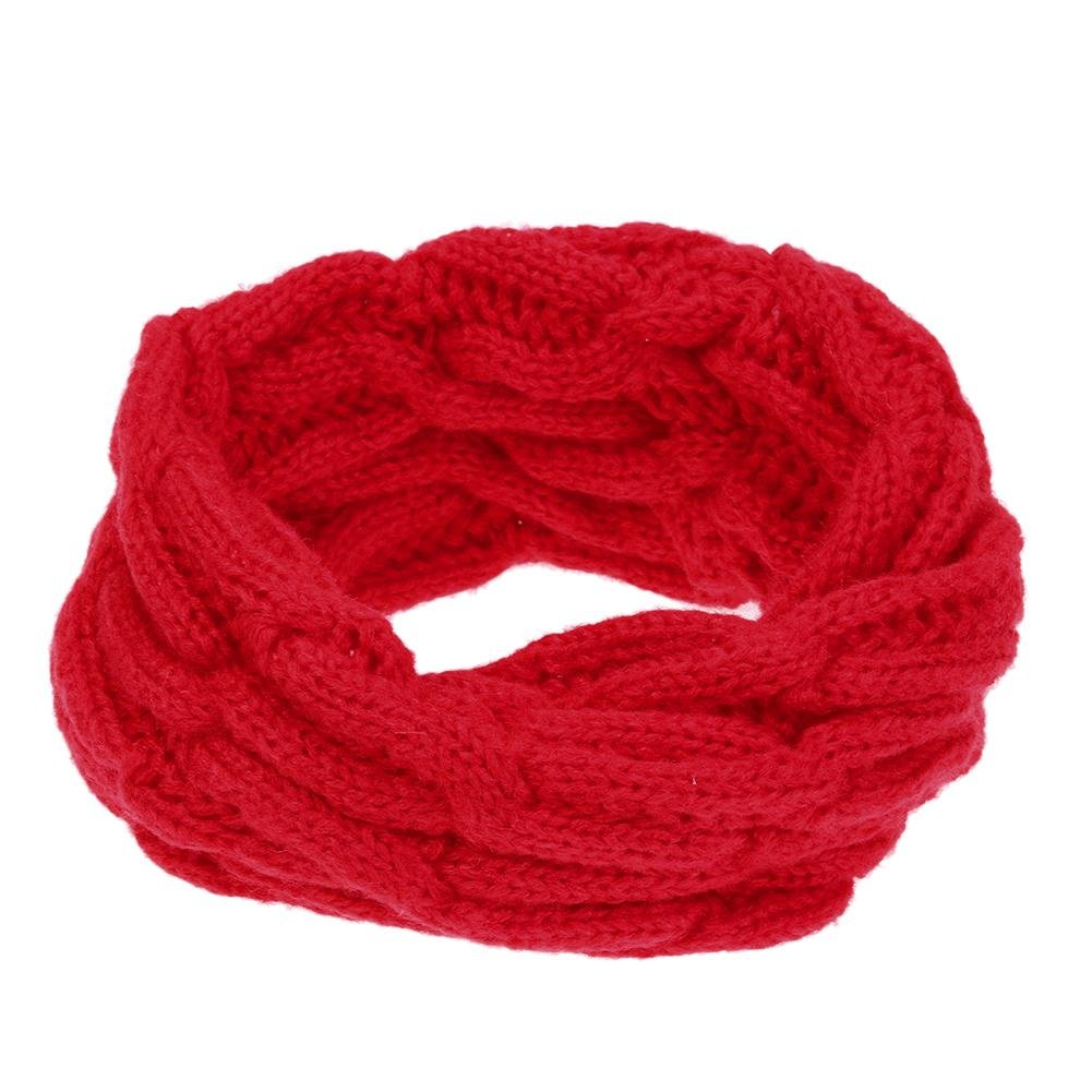 Domybest Boys and Girls Snood Scarf Baby Hemp Flower Knitted Scarves Winter Neck Warmer 160066.06