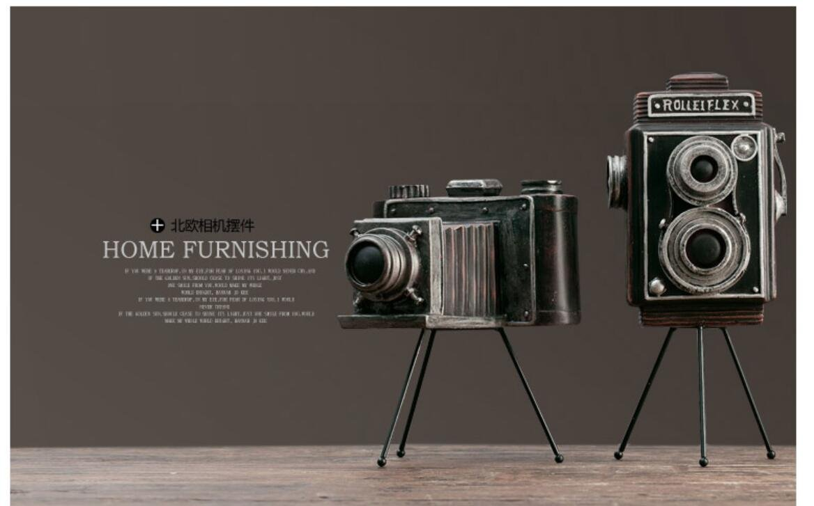 Camera Vintage Model Bar artwork Window Display American Soft Shooting artwork Props TA122511 ( Size : B )