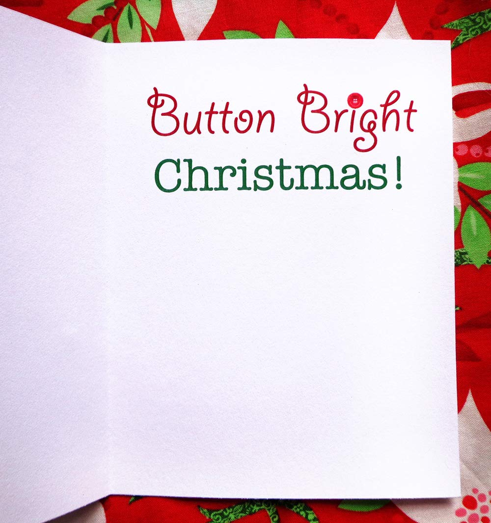 Button Bright Christmas Cards Pack of 4