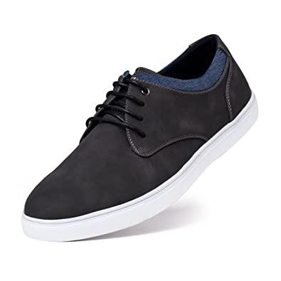 Jivana Men\u0027s Sneaker Flat Casual Shoes Black/Brown