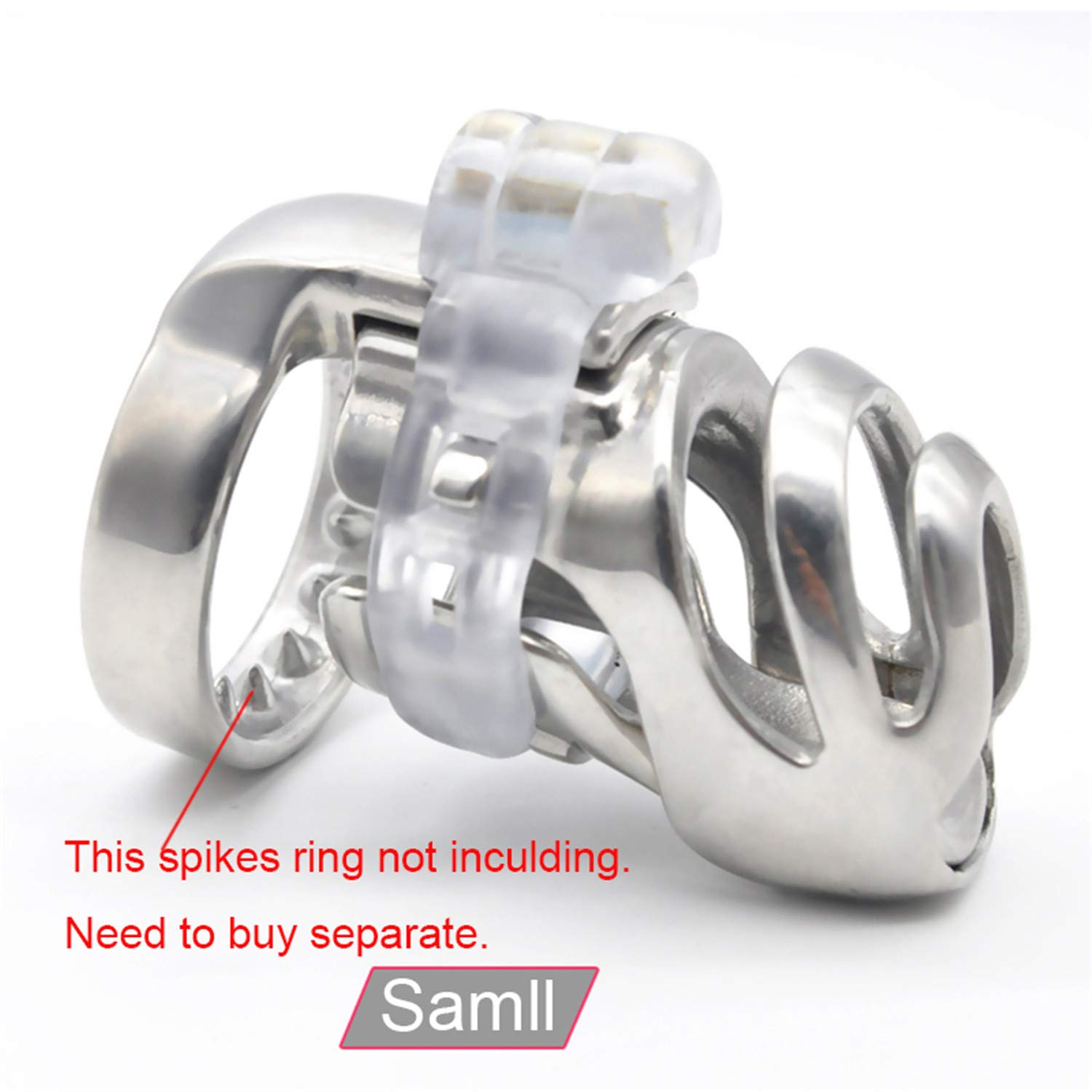 SCGOLD Wonderful 67Mm31Mm Small Size Chastity Device Adult Cock Cage Sex Toy 316L Stainless Steel Chastity Belt Sex Toy 48mm by SCGOLD (Image #5)