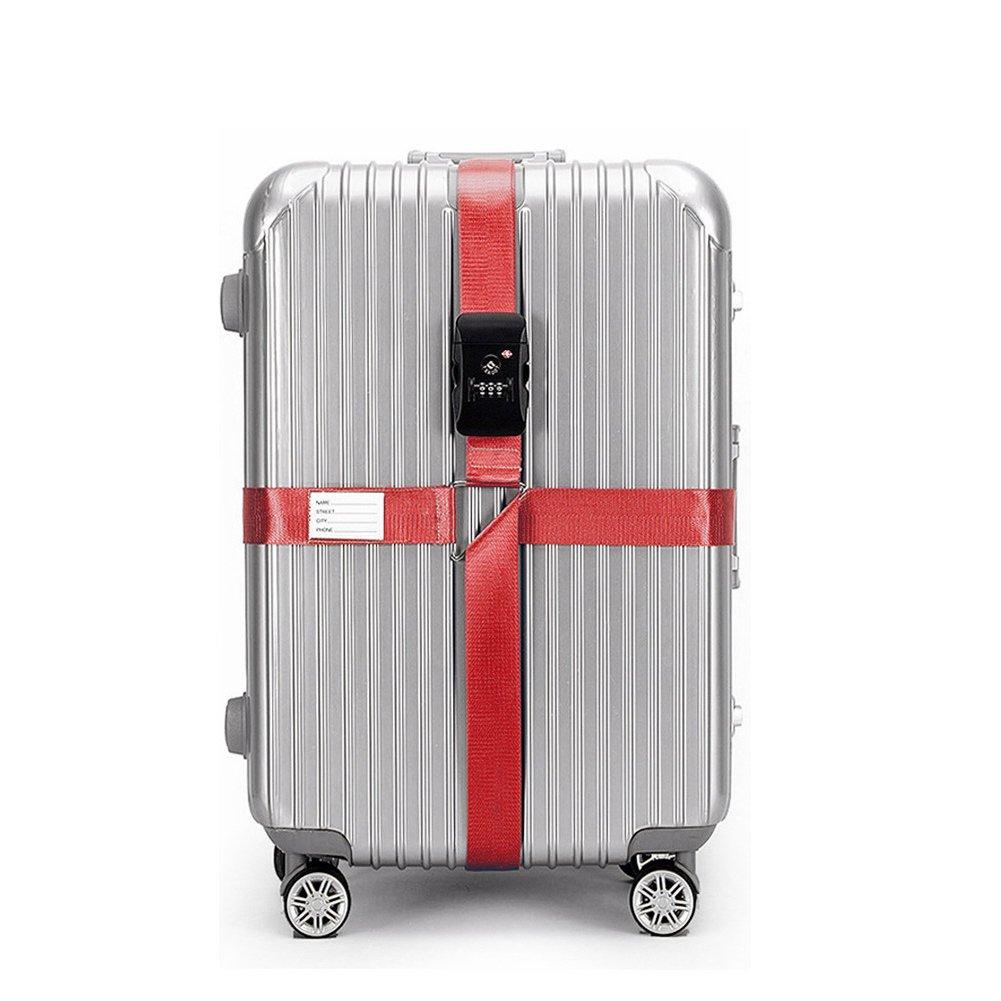 Bleu Bagages CSTOM Croix TSA Sangle à Bagage Sangles de Voyage Valises Bagages