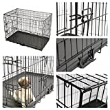 Magshion XS-XL 5 Sizes Travel Folding Metal Dog Crate Kennel House (M-30inch)