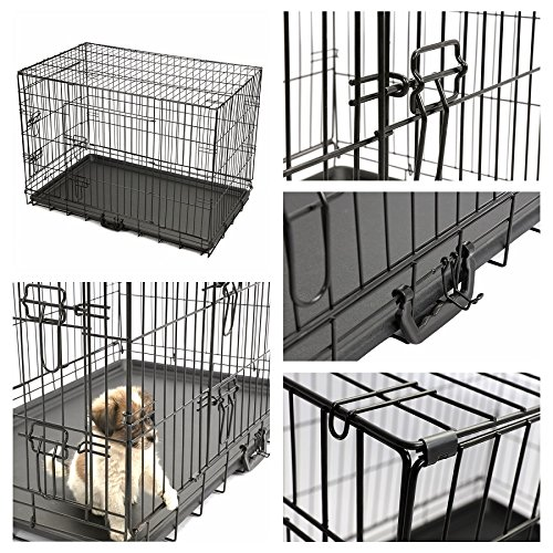 Magshion XS-XL 5 Sizes Travel Folding Metal Dog Crate Kennel House
