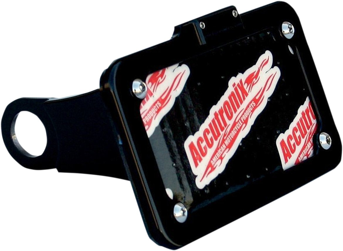 Accutronix Side Mount License Plate Assembly - Black Anodized LPF075HVB
