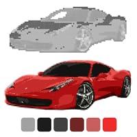 Car Coloring by Number: Sandbox Coloring