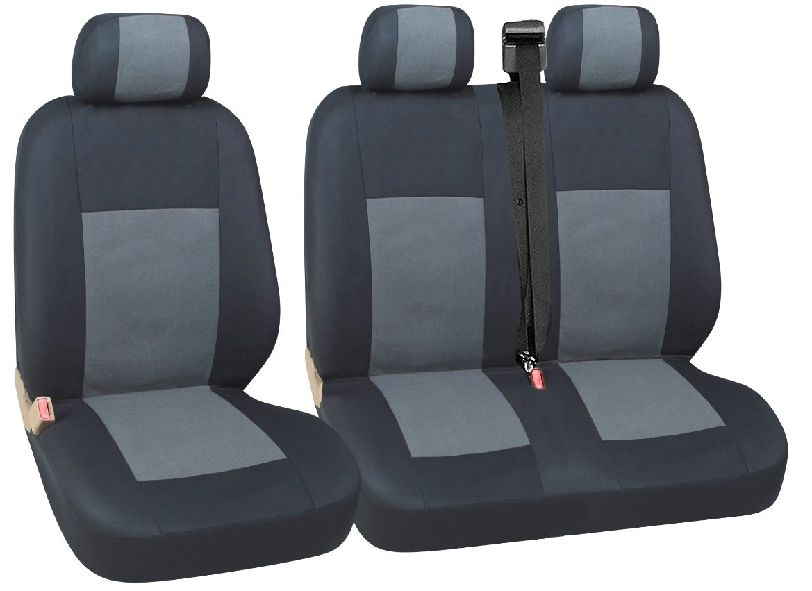 flexzon 2+1 BG7 GREY Quality Grey Black Fabric Seat Covers