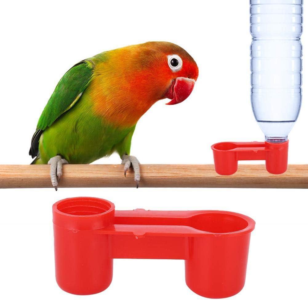 AUNMAS 20Pcs Plástico Bebedero para pájaros Alimentador Botella de Agua de Soda Granja Herramienta de alimentación para Beber Equipo de Fuente de Agua para Pollo de Paloma