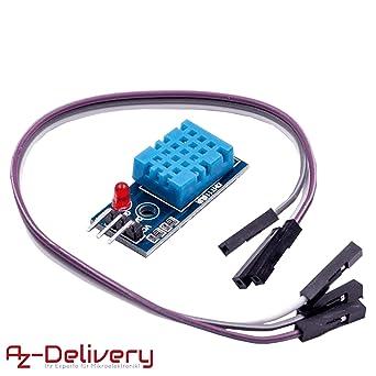AZDelivery DHT11 Modulo de Conexion Sensor de Temperatura y ...