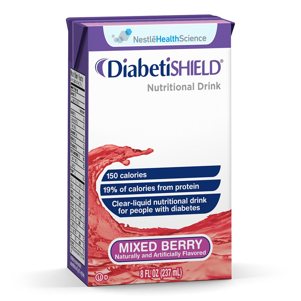 Diabetishield Nutritional Drink Mixed Berry 8 fl oz Box 27 Pack by Diabetishield