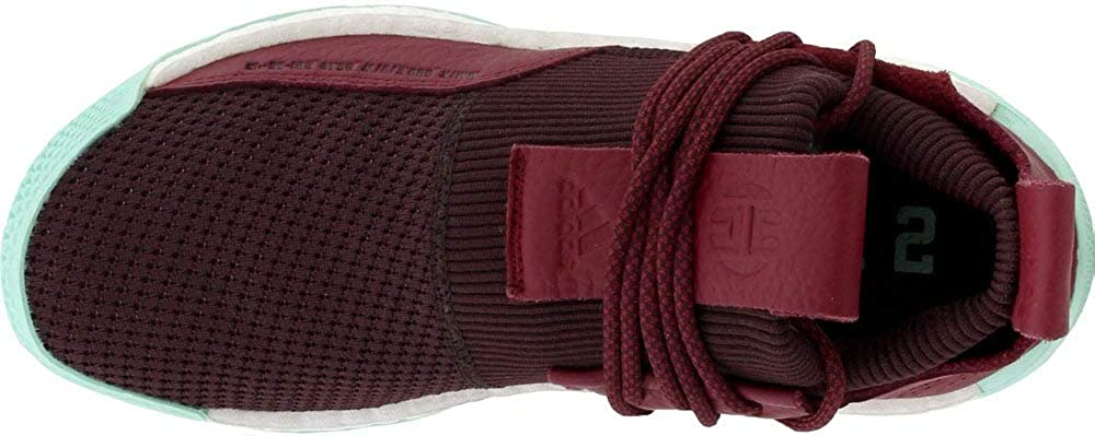 adidas Men\'s Harden LS 2 Lace MVP Basketball (8 M US, Red/Maroon/Clear Mint)